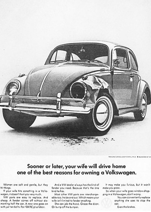 Vw Beetle Greeting Card featuring the digital art Sooner Or Later Your Wife Will Drive Home.............. by Georgia Fowler