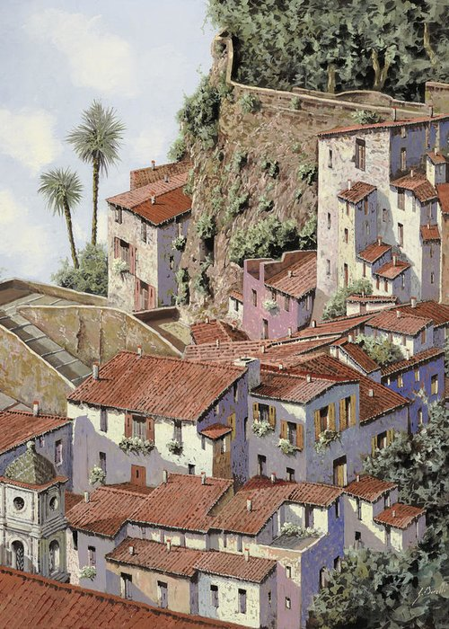 Sorrento By Guido Greeting Card featuring the painting Sorrento by Guido Borelli