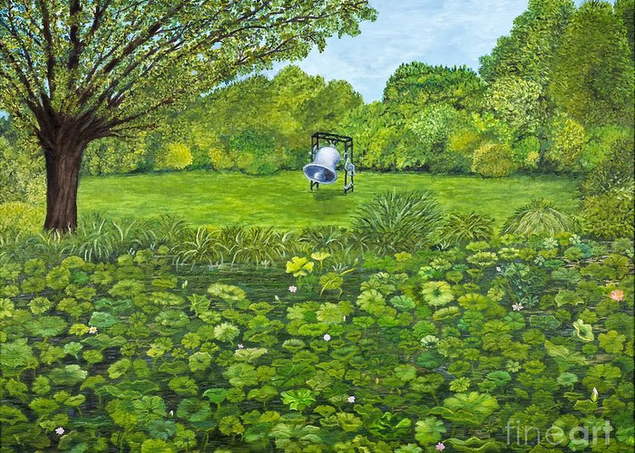 Pond Greeting Card featuring the painting Sound Of Nature By Kevin Davis by Sheldon Kralstein