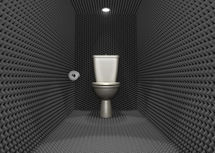 Toilet Greeting Card featuring the digital art Soundproof Toilet Cubicle by Allan Swart