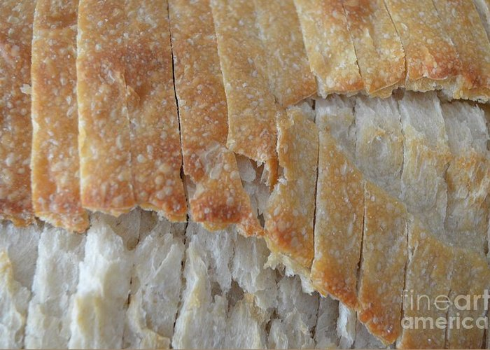 Bread Greeting Card featuring the photograph Sourdough Crust by Mary Deal