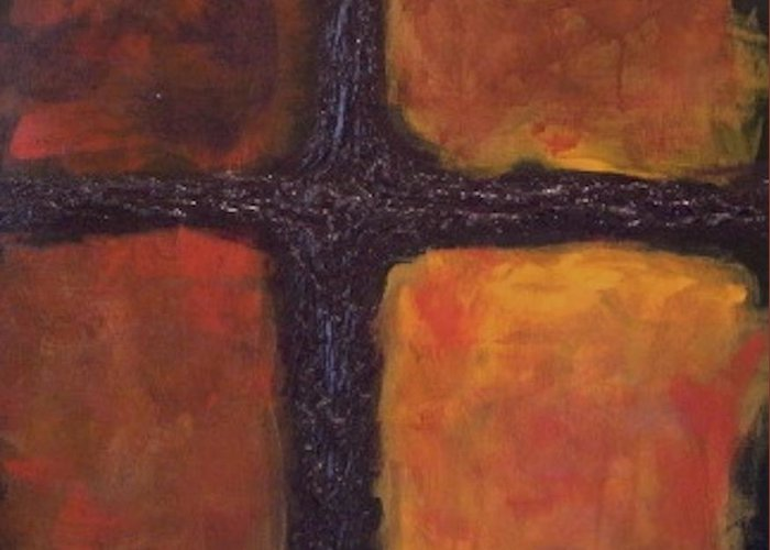 Square Greeting Card featuring the painting Southern Cross by Jim Ellis