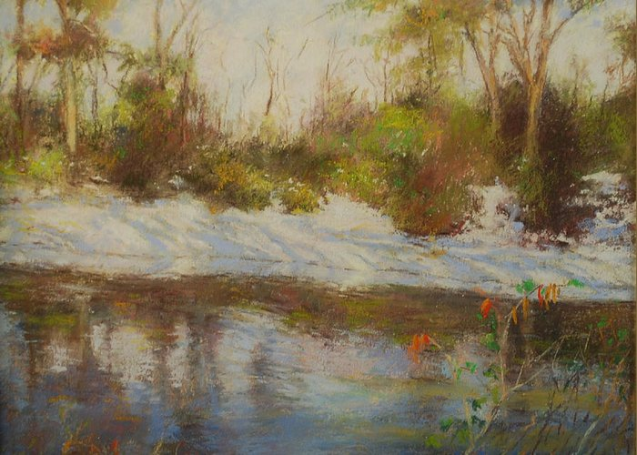Landscapes Greeting Card featuring the pastel Southern Landscapes  by Nancy Stutes