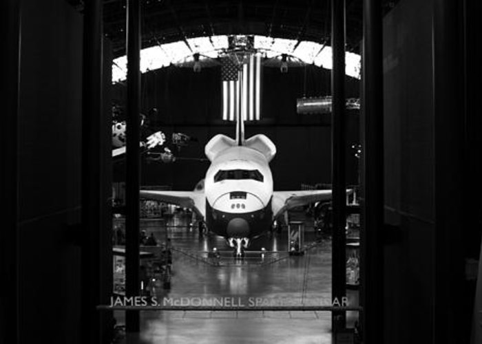 Space Greeting Card featuring the photograph Space Shuttle Enterprise by Chris Bhulai