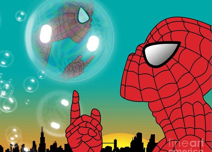 Pop Culture Greeting Card featuring the digital art Spiderman 4 by Mark Ashkenazi