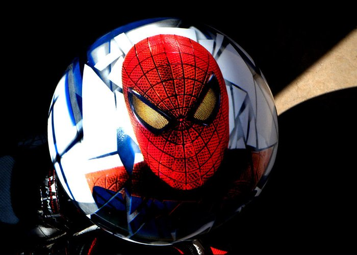 Spiderman Greeting Card featuring the photograph Spiderman by Bruce Iorio
