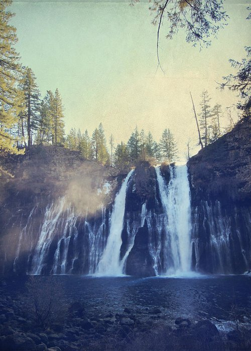Burney Falls State Park Greeting Card featuring the photograph Splendor by Laurie Search