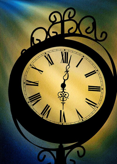 Spotlight On Time Greeting Card featuring the photograph Spotlight On Time by Mike Flynn