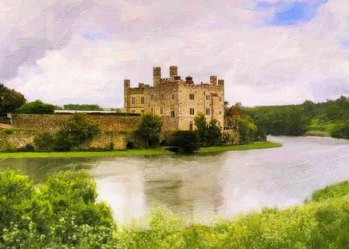 England Greeting Card featuring the photograph Spring At Leeds Castle by Mark E Tisdale