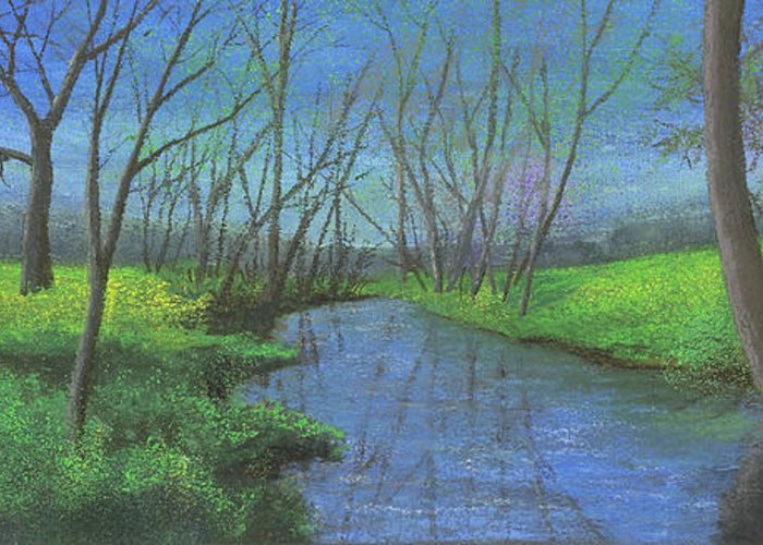 Ozarks Greeting Card featuring the painting Spring Awakening II by Garry McMichael