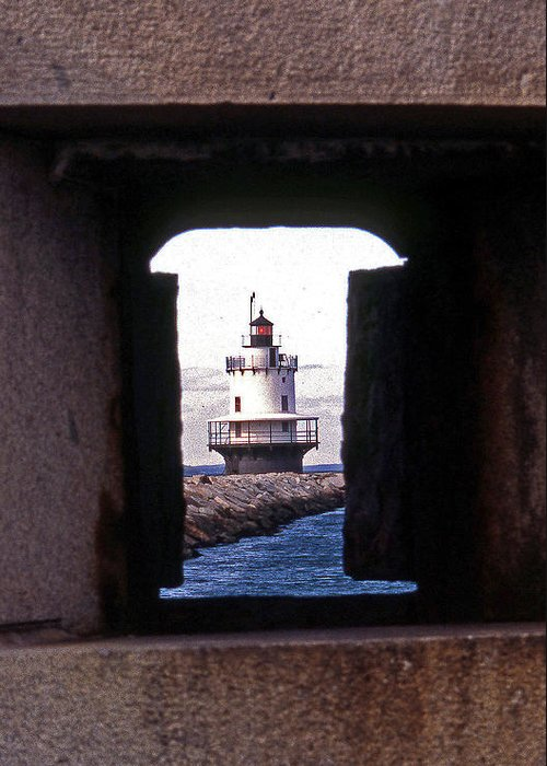 Spring Point Lighthouse Greeting Card featuring the photograph Spring Point Ledge Lightouse by Skip Willits