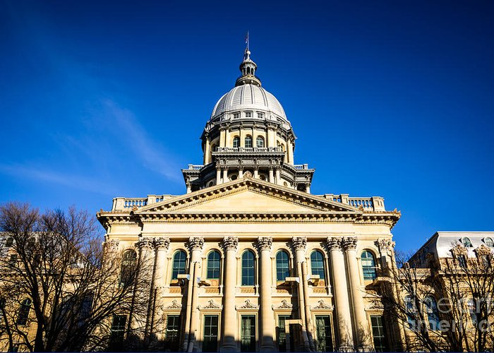 America Greeting Card featuring the photograph Springfield Illinois State Capitol Building by Paul Velgos