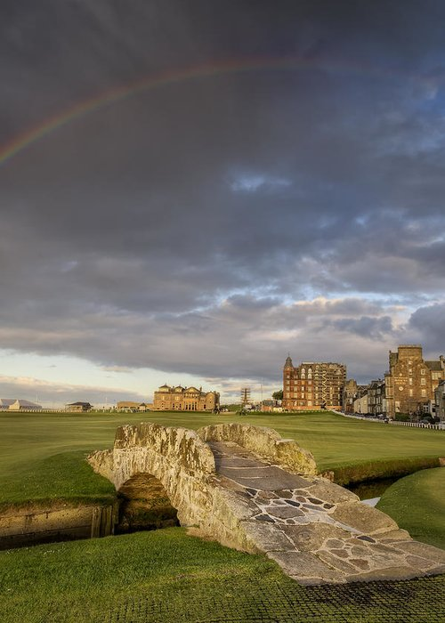 Golf Greeting Card featuring the photograph St Andrews Bridge by Chris Frost
