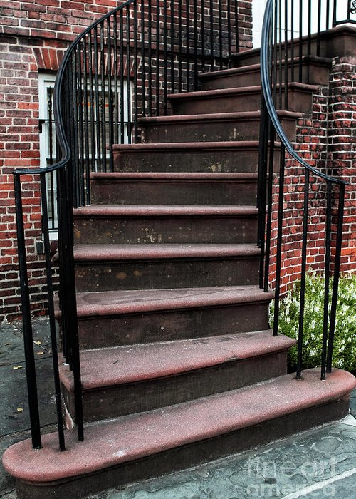 Staircase Greeting Card featuring the photograph Staircase by John Rizzuto