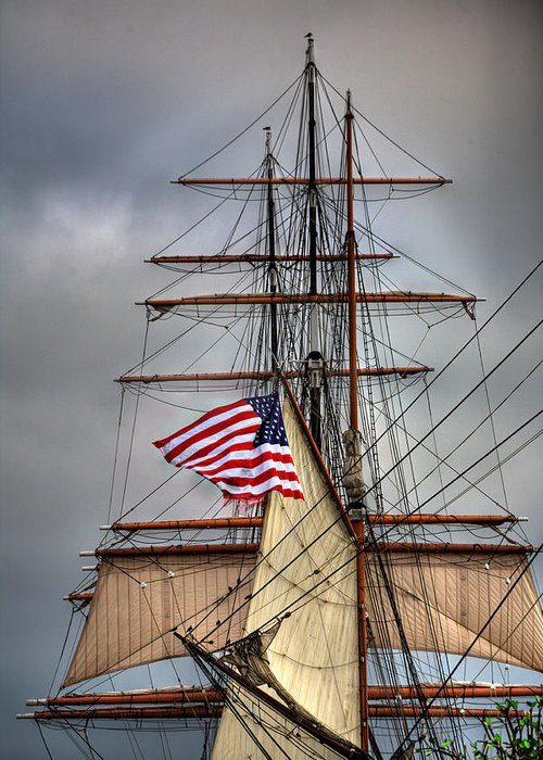 California Greeting Card featuring the photograph Star Of India Stars And Stripes by Peter Tellone