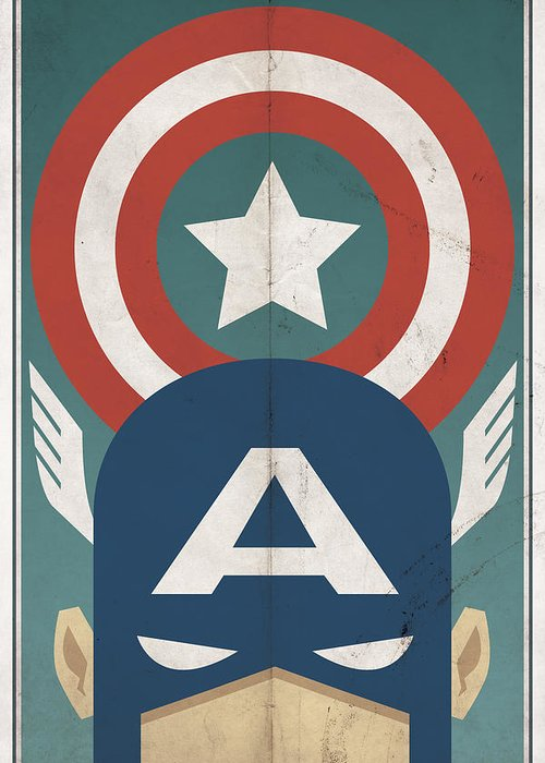 Hero Greeting Card featuring the digital art Star-spangled Avenger by Michael Myers