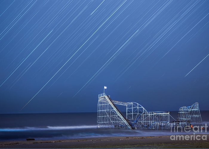 Starjet Greeting Card featuring the photograph Starjet Under The Stars by Michael Ver Sprill