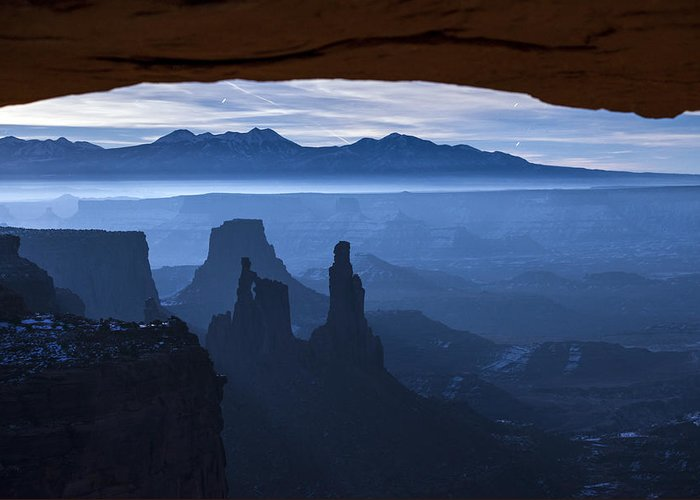 Utah Greeting Card featuring the photograph Starlit Mesa by Dustin LeFevre