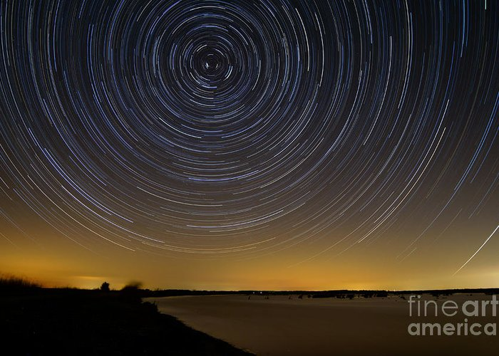 Deal Island Greeting Card featuring the photograph Startrails 3 by Benjamin Reed