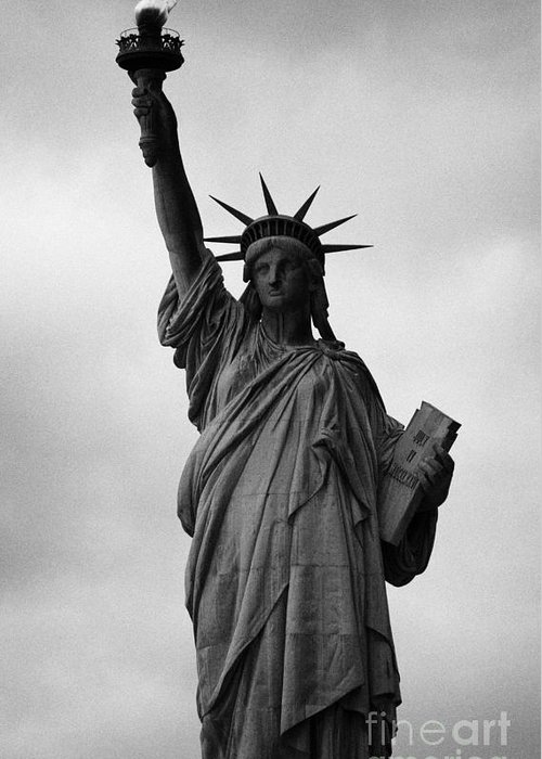 Usa Greeting Card featuring the photograph Statue Of Liberty National Monument Liberty Island New York City Nyc by Joe Fox
