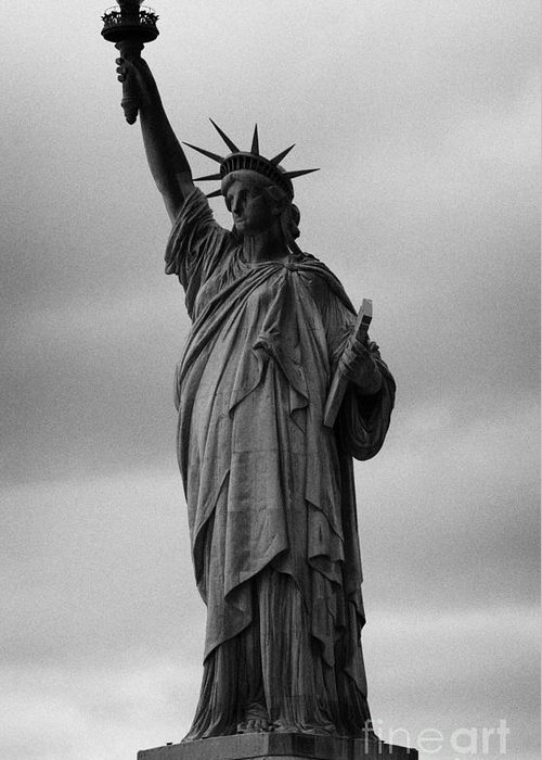Usa Greeting Card featuring the photograph Statue Of Liberty New York City Usa by Joe Fox
