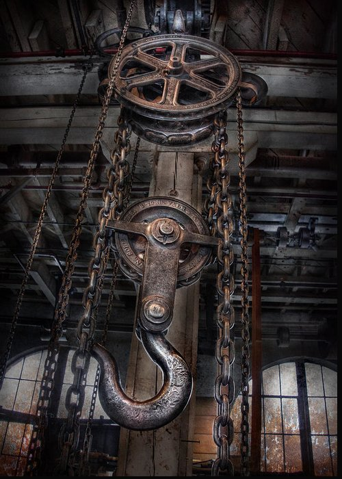 Hdr Greeting Card featuring the photograph Steampunk - Industrial Strength by Mike Savad