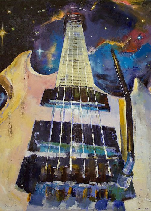 Stellar Greeting Card featuring the painting Stellar Rift by Michael Creese
