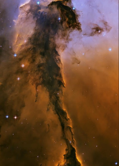 3scape Photos Greeting Card featuring the photograph Stellar Spire In The Eagle Nebula by Adam Romanowicz
