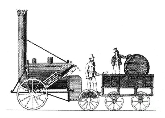 Science Greeting Card featuring the photograph Stephensons Rocket 1829 by Science Source