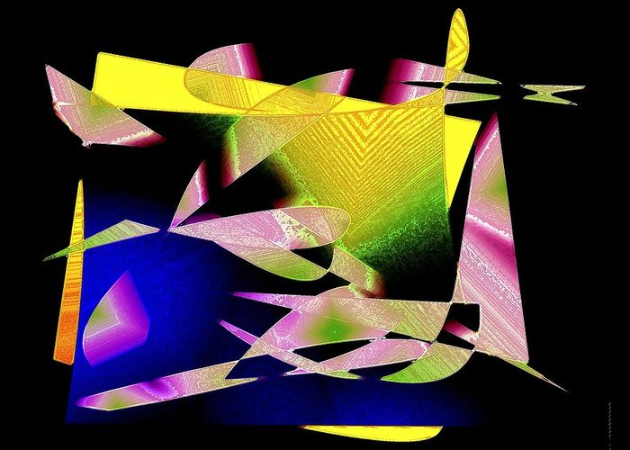 Color Greeting Card featuring the digital art Still Life In Geometric Art by Mario Perez