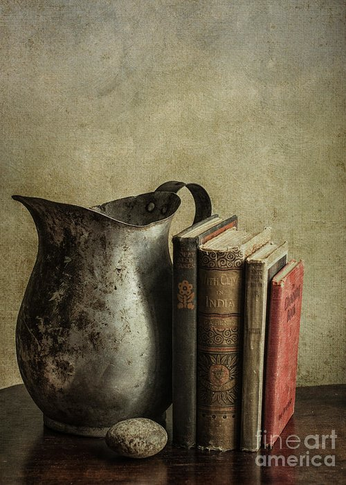 Books Greeting Card featuring the photograph Still Life With Pitcher by Terry Rowe