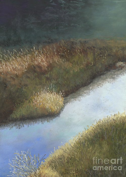 Creek Greeting Card featuring the painting Still Water by Ginny Neece