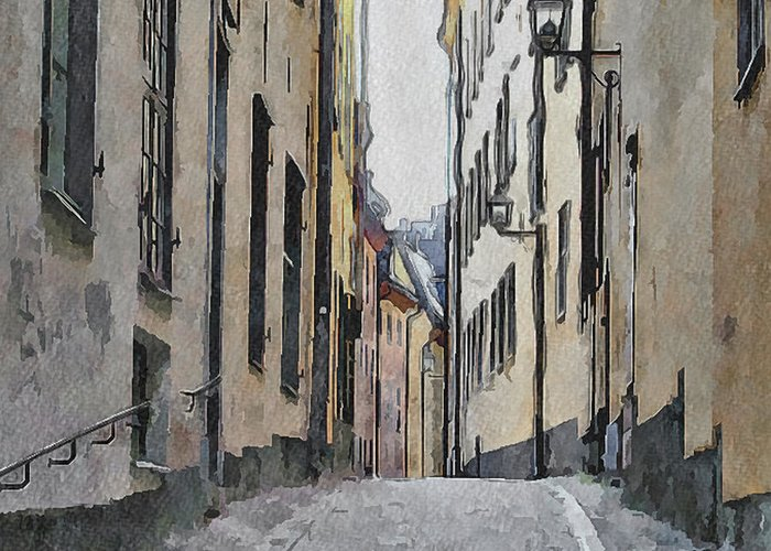 Stockholm Greeting Card featuring the digital art Stockholm 13 by Yury Malkov