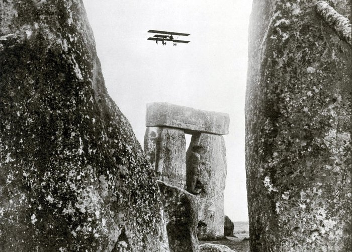 Archeology Greeting Card featuring the photograph Stonehenge 1914 by Science Source