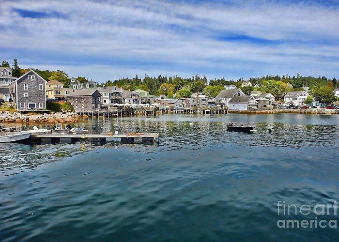 Maine Greeting Card featuring the photograph Stonington In Maine by Olivier Le Queinec