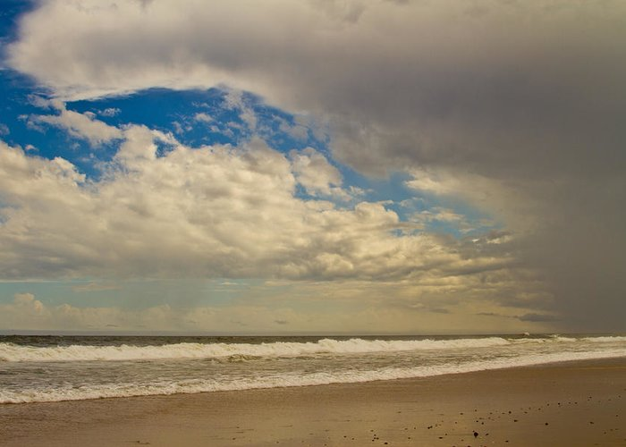 Coastal Greeting Card featuring the photograph Storm Approaching by Karol Livote