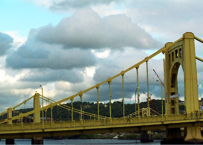 Allegheny Greeting Card featuring the photograph Stormy Bridge by Frank Romeo