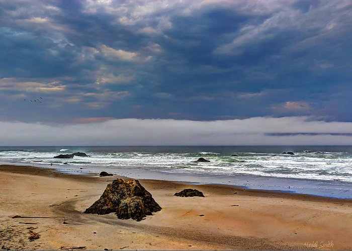 Beach Greeting Card featuring the photograph Stormy Skies by Heidi Smith