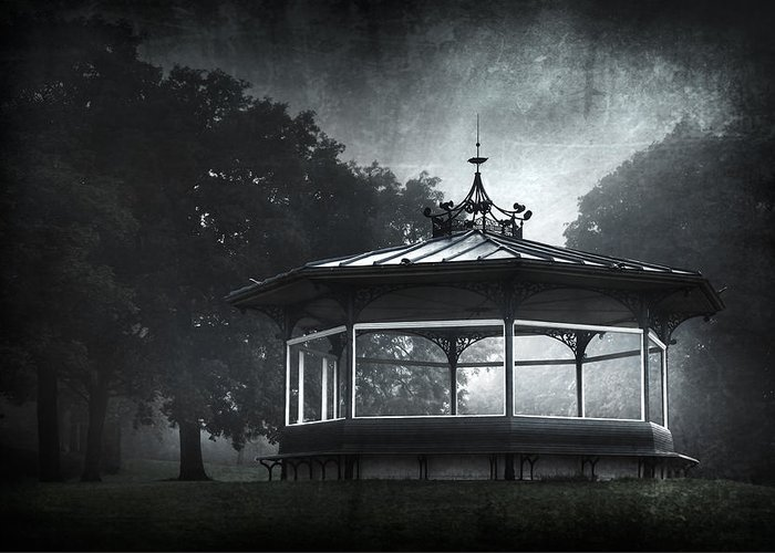 Abandoned Greeting Card featuring the photograph Storytelling Gazebo by Svetlana Sewell