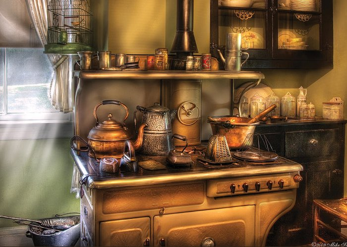 Savad Greeting Card featuring the photograph Stove - What's For Dinner by Mike Savad