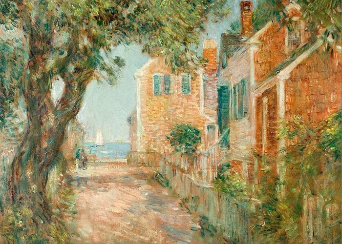 Street Greeting Card featuring the painting Street In Provincetown by Childe Hassam