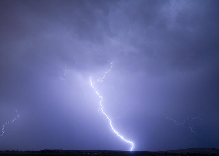 Lightning Greeting Card featuring the photograph Striking Distance by James BO Insogna
