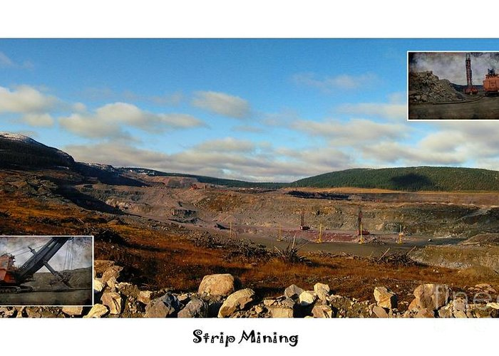 Strip Mining Environment Panorama Labrador Greeting Card featuring the photograph Strip Mining - Environment - Panorama - Labrador by Barbara Griffin