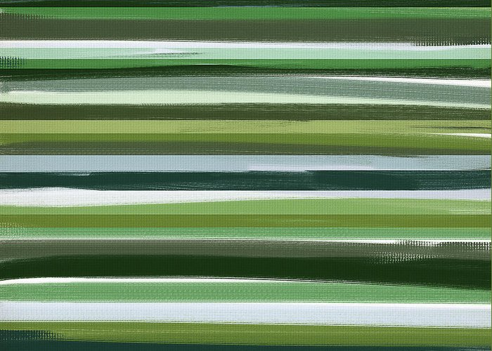 Green Greeting Card featuring the painting Summer Of Green by Lourry Legarde
