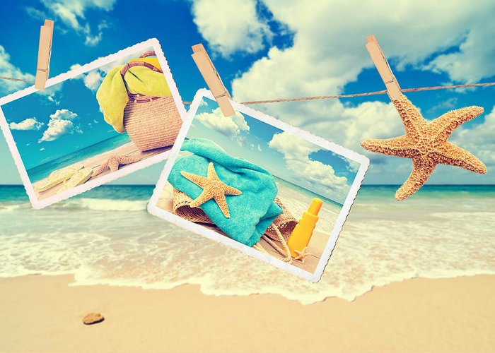 Beach Greeting Card featuring the photograph Summer Postcards by Amanda And Christopher Elwell