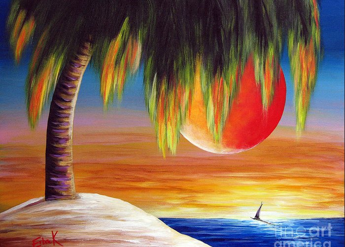 California Greeting Card featuring the painting Summer Sunsets By Shawna Erback by Shawna Erback