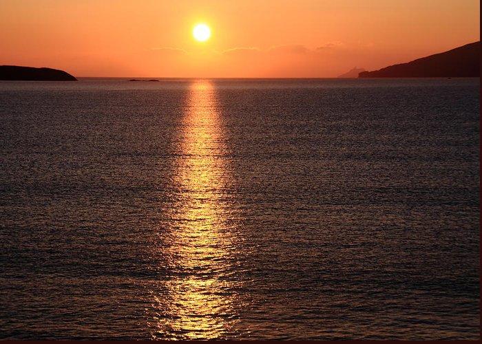 Sunrise Greeting Card featuring the photograph Sun Path by Aidan Moran