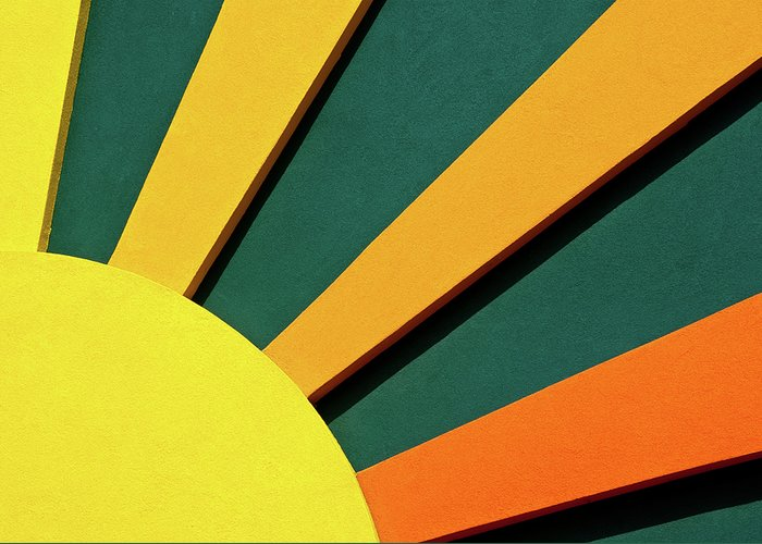 Abstract Greeting Card featuring the photograph Sunbeams by Christi Kraft
