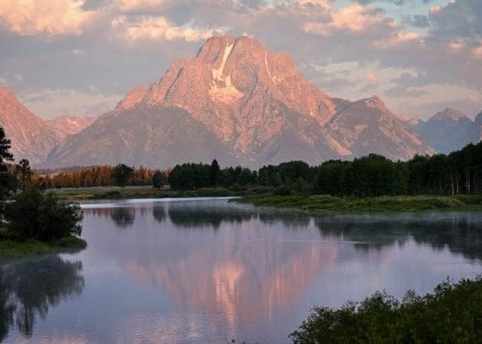 Grand Teton National Park Greeting Card featuring the photograph Sunrise At Oxbow Bend 1 by Marty Koch
