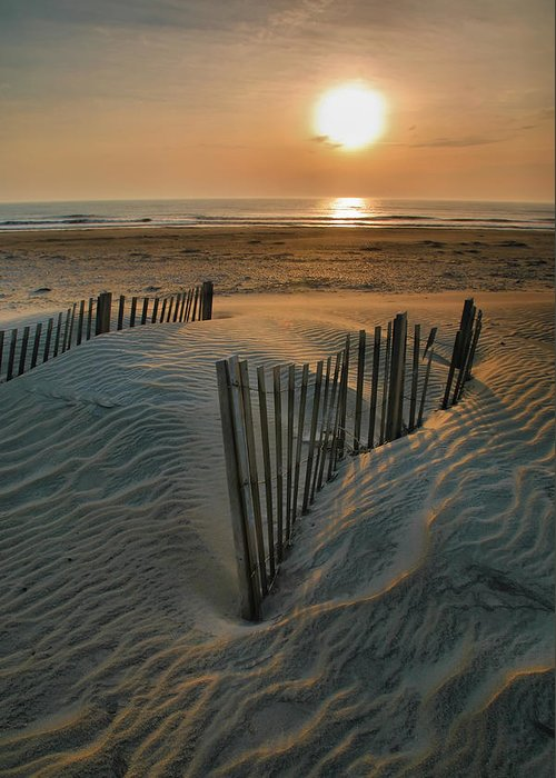 Outer Banks Prints Greeting Card featuring the photograph Sunrise Over Hatteras by Steven Ainsworth